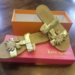 Kate Spade sparkle crab sandals